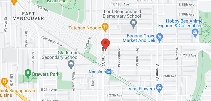 map of 3862 NANAIMO STREET