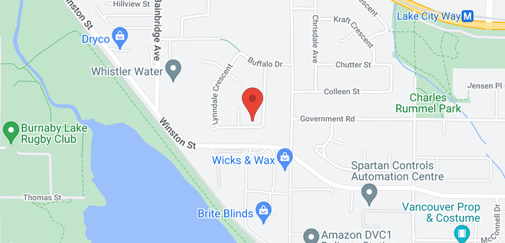 map of 3650 LYNNDALE CRESCENT