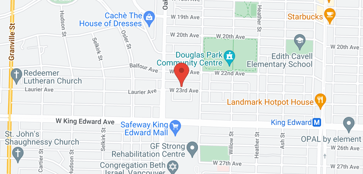 map of 955 W 23RD AVENUE