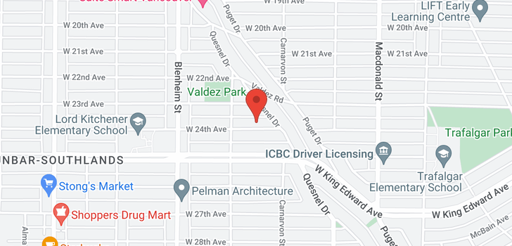 map of 3105 W 24TH AVENUE