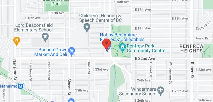 map of 3725-3727 RENFREW STREET