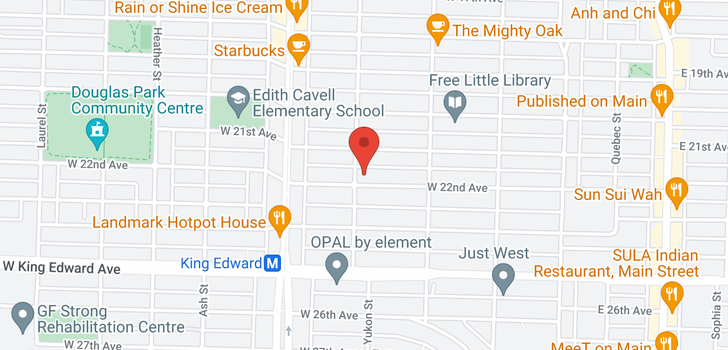map of 385 W 22ND AVENUE