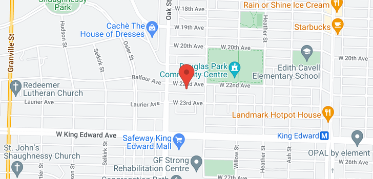 map of 948 W 22ND AVENUE