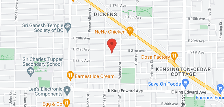 map of 942 E 21ST AVENUE