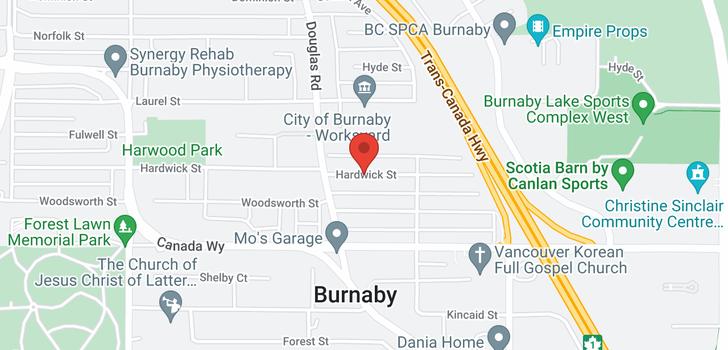 map of 5813 HARDWICK STREET