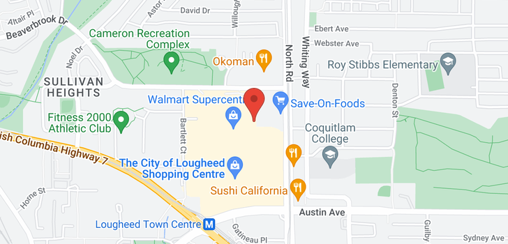 map of 2601 9888 CAMERON STREET