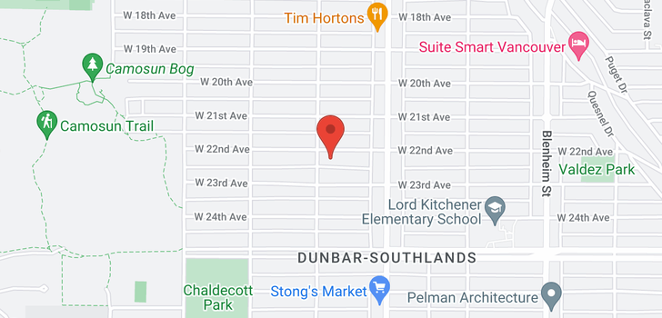 map of 3778 W 22ND AVENUE