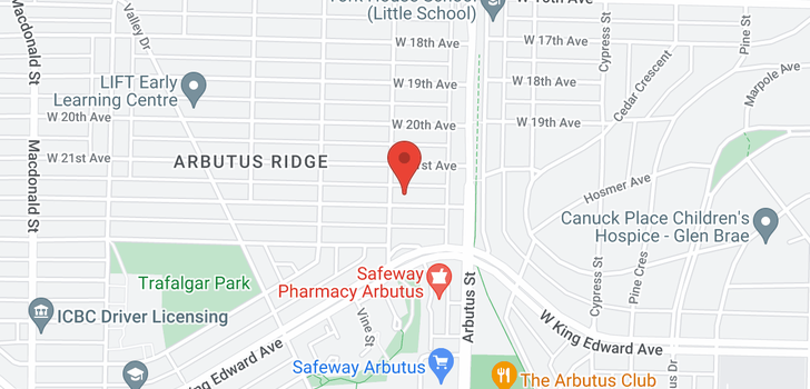 map of 2181 W 22ND AVENUE