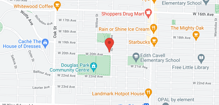 map of 707 W 20TH AVENUE