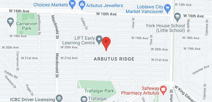 map of 2446 W 20TH AVENUE