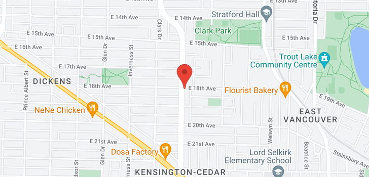 map of 3412 KNIGHT STREET