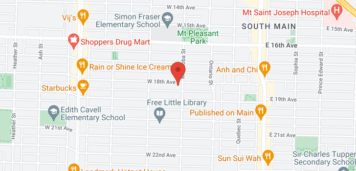 map of 108 W 18TH AVENUE