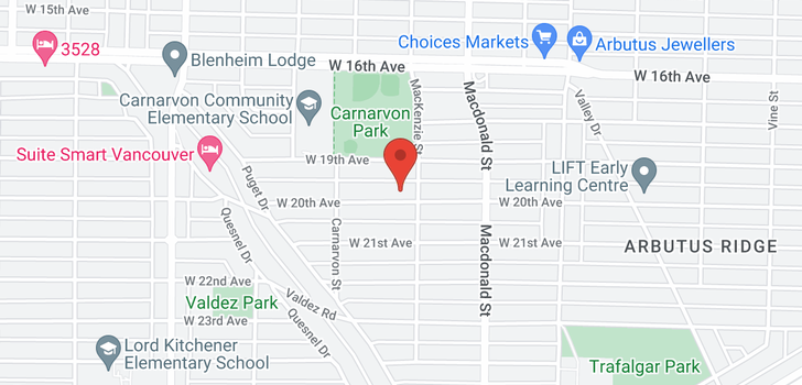 map of 2917 W 20TH AVENUE