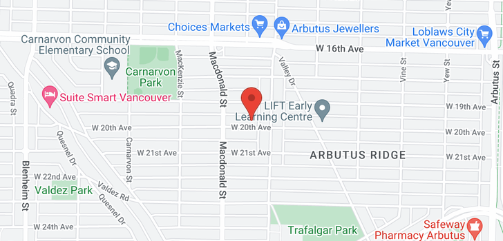 map of 2727 W 20TH AVENUE