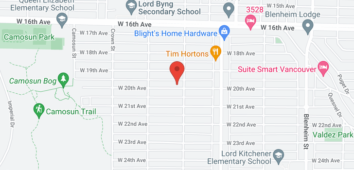 map of 3815 W 20TH AVENUE