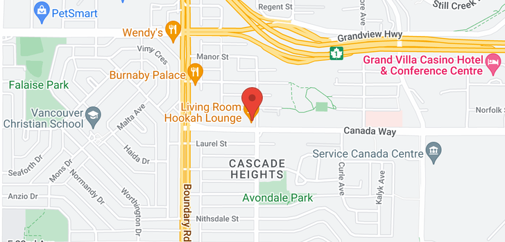 map of 412 3255 SMITH AVENUE