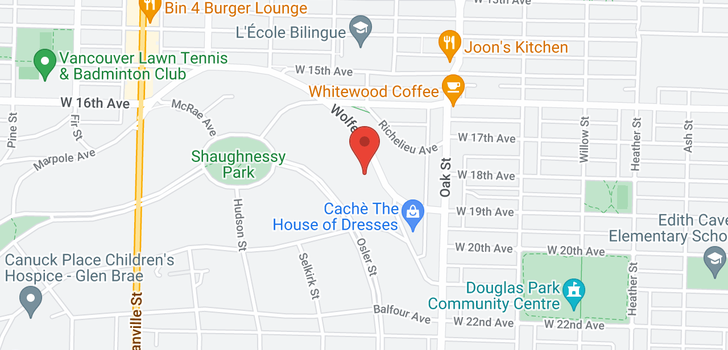map of 1098 WOLFE AVENUE