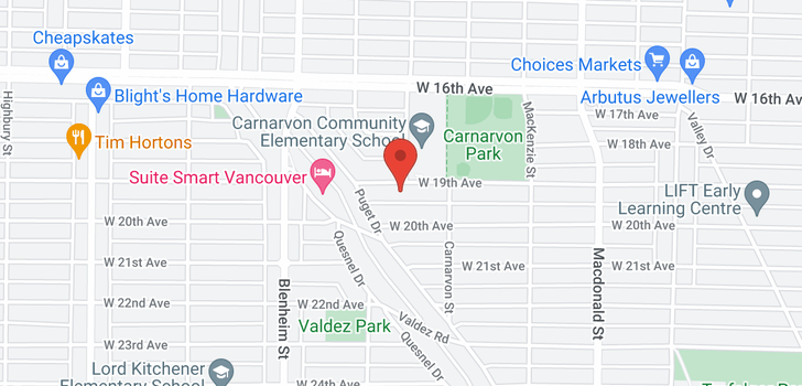 map of 3120 W 19 AVENUE