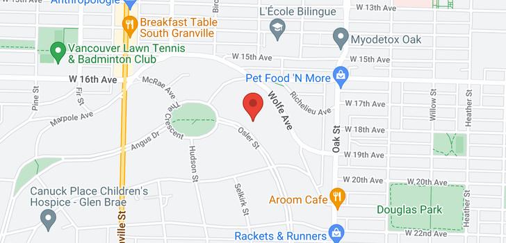 map of 3402 OSLER STREET