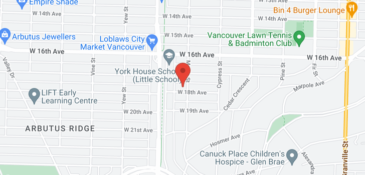map of 2009 W 18TH AVENUE