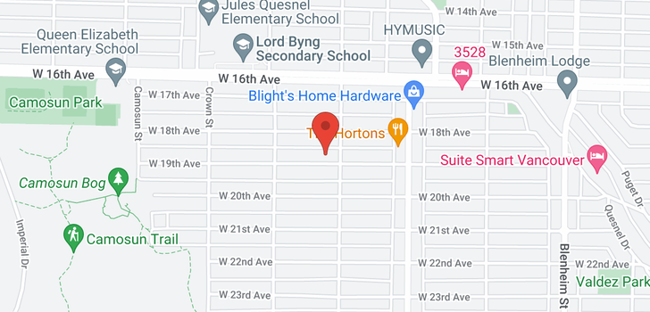 map of 3819 W 19TH AVENUE