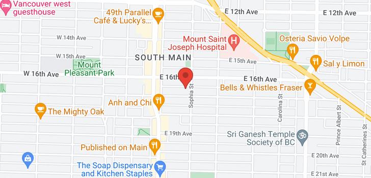 map of 412 3480 MAIN STREET