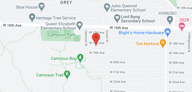 map of 4056 W 18TH AVENUE