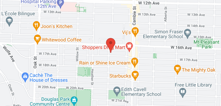 map of 3208 ASH STREET