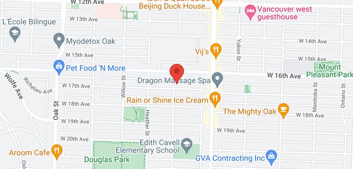 map of 3208 ASH STREET