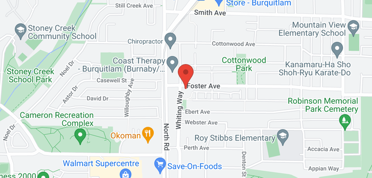 map of 417 516 FOSTER AVENUE