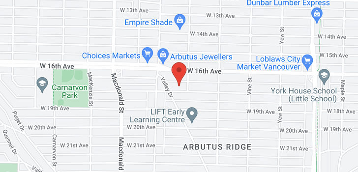 map of 2535 W 18TH AVENUE