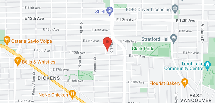 map of 3071 CLARK DRIVE