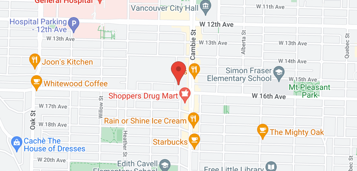 map of 501 503 W 16TH AVENUE