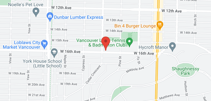 map of 1783 W 16TH AVENUE