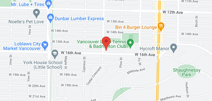 map of 200 1785 W 16TH AVENUE