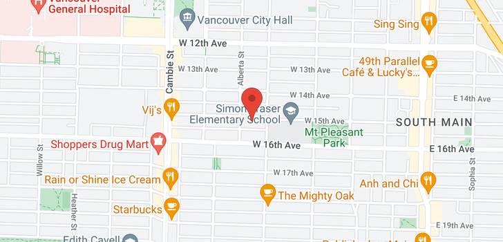 map of 234 W 15TH AVENUE