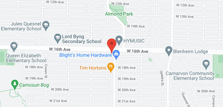 map of 304 3615 W 17TH AVENUE