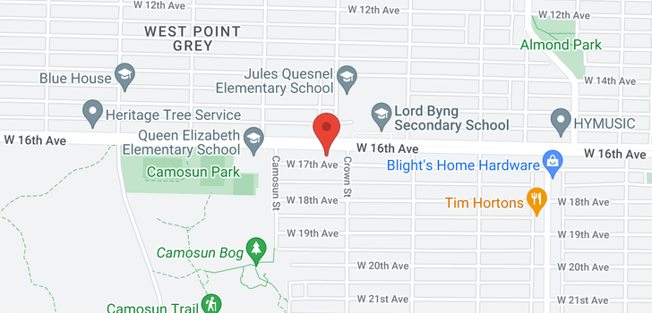 map of 4028 W 16TH AVENUE