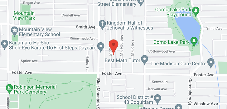 map of 673 COLINET STREET