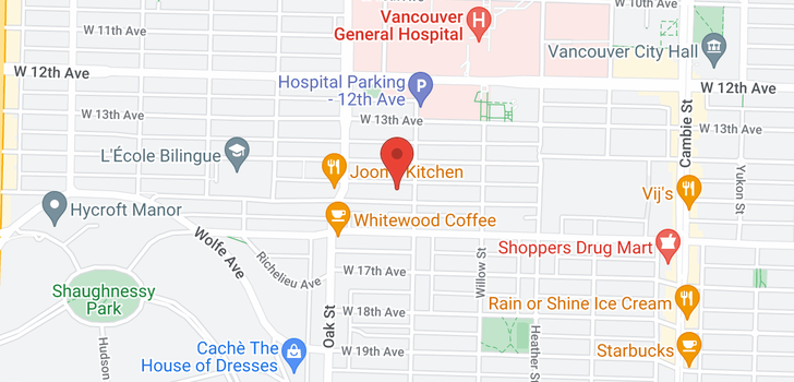 map of 107 925 W 15TH AVENUE
