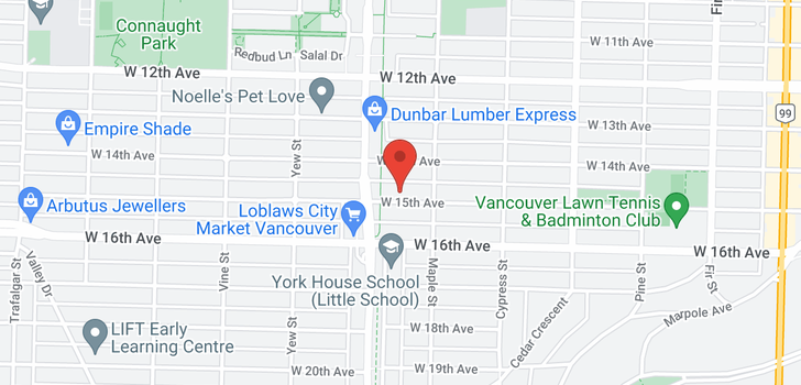 map of 2047 W 15TH AVENUE