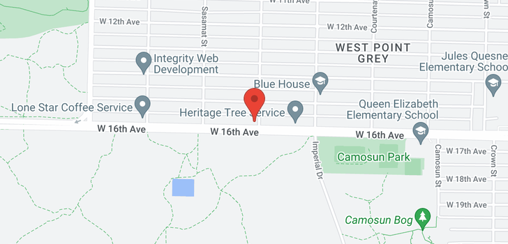 map of 4405 W 16TH AVENUE