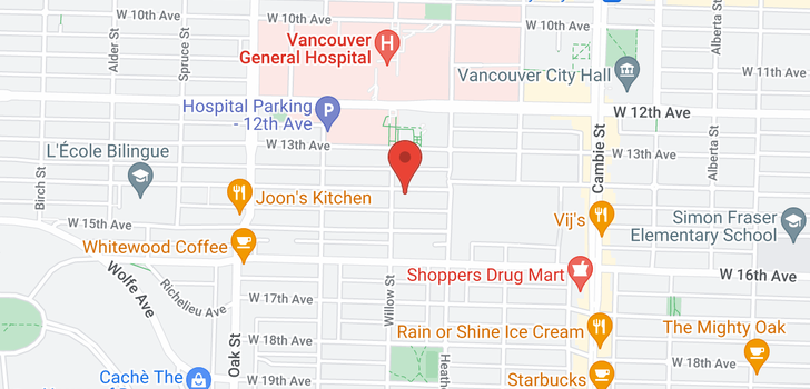 map of 105 736 W 14TH AVENUE