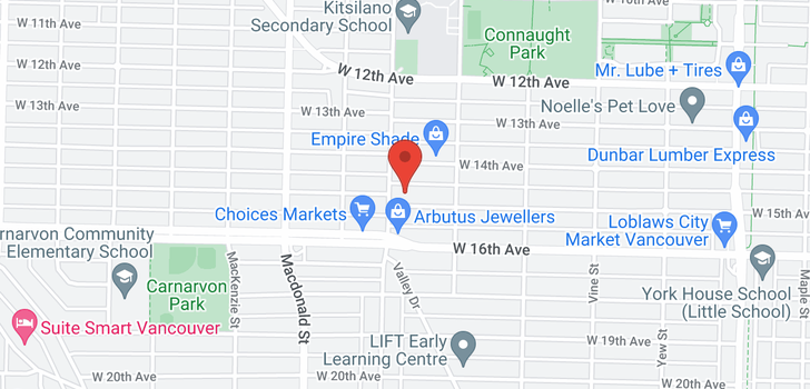 map of 2575 W 15TH AVENUE