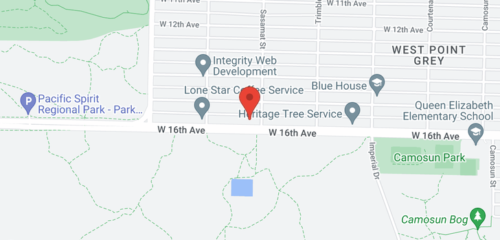 map of 4517 W 16TH AVENUE