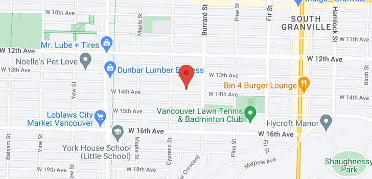 map of 1848 W 14TH AVENUE