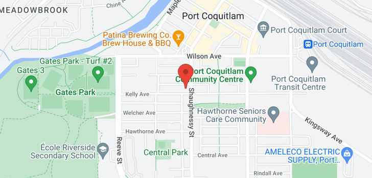 map of 205 2425 SHAUGHNESSY STREET