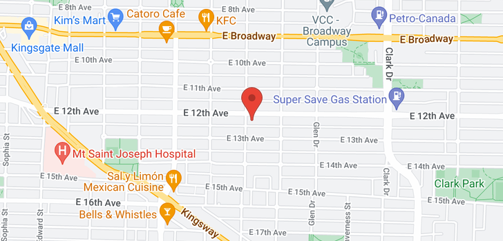 map of 904 E 12TH AVENUE