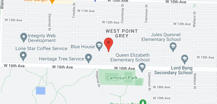 map of 4255 W 15TH AVENUE