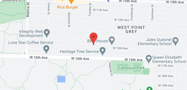 map of 4383 W 15TH AVENUE
